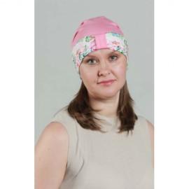 Модель Жанна 1503-06 PINK, головной убор после химиотерапии