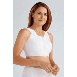Компрессионная майка с застежкой спереди, на молнии Amoena Patricia 2863 N белая
